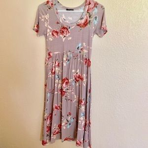 Sweet Claire Floral midi dress